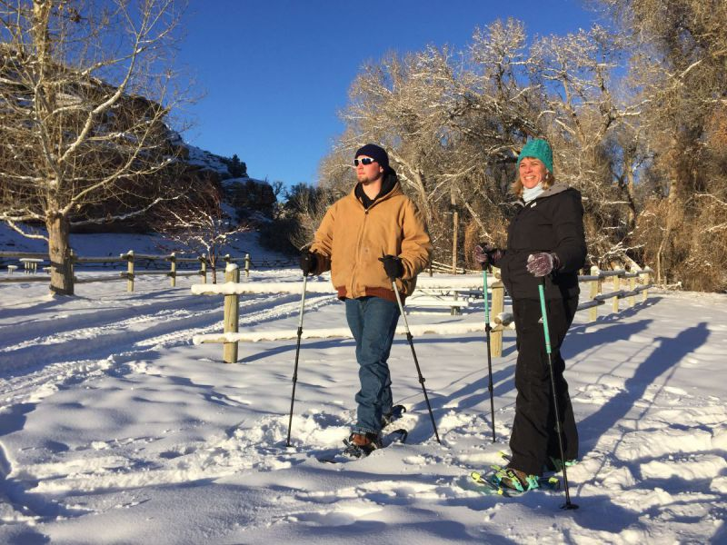 SKIING-AND-SNOWSHOEING